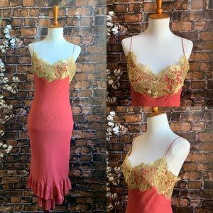 Ralph Lauren Black Label Silk and Lace Dress